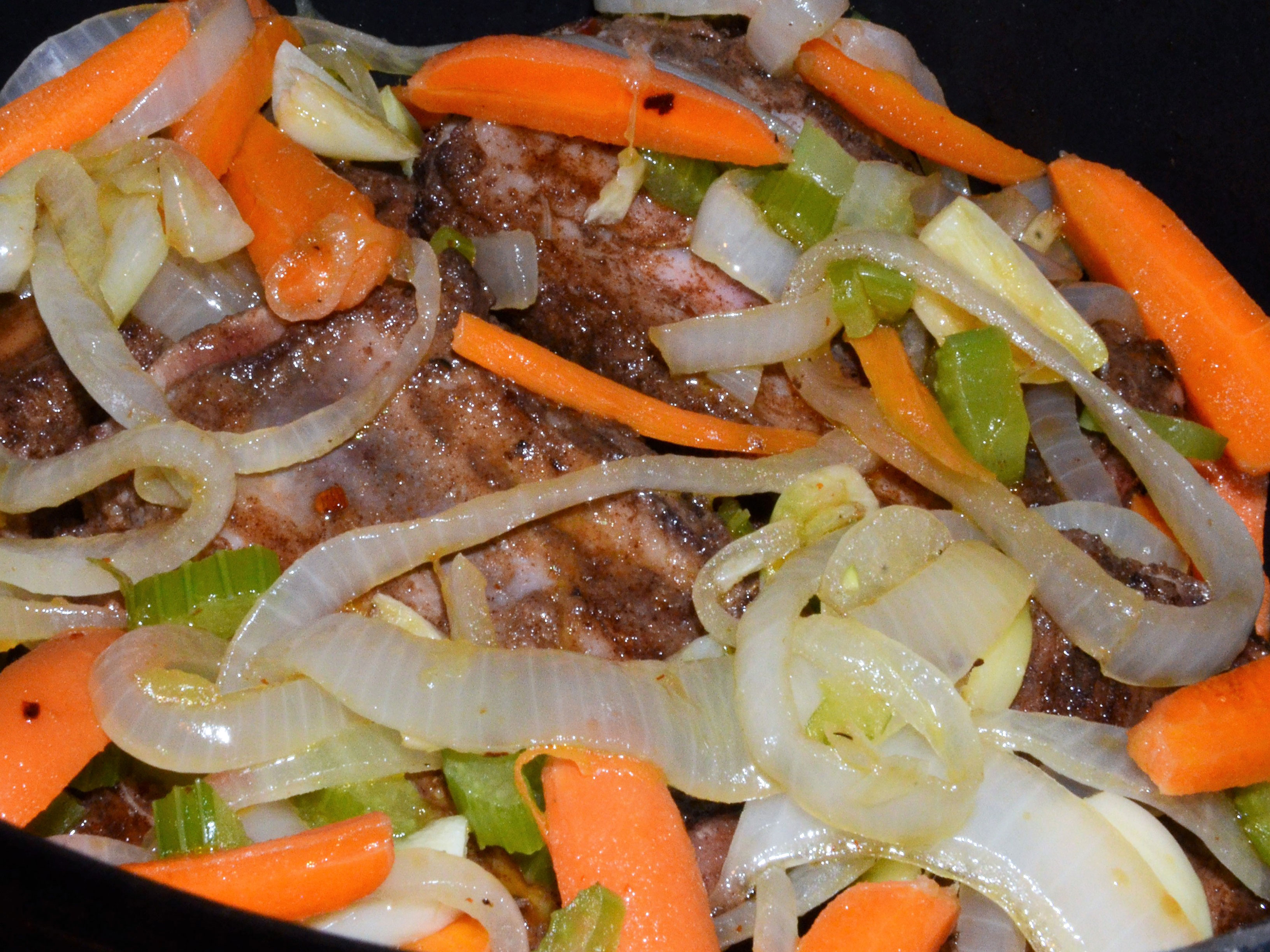 Short ribs with vegetables