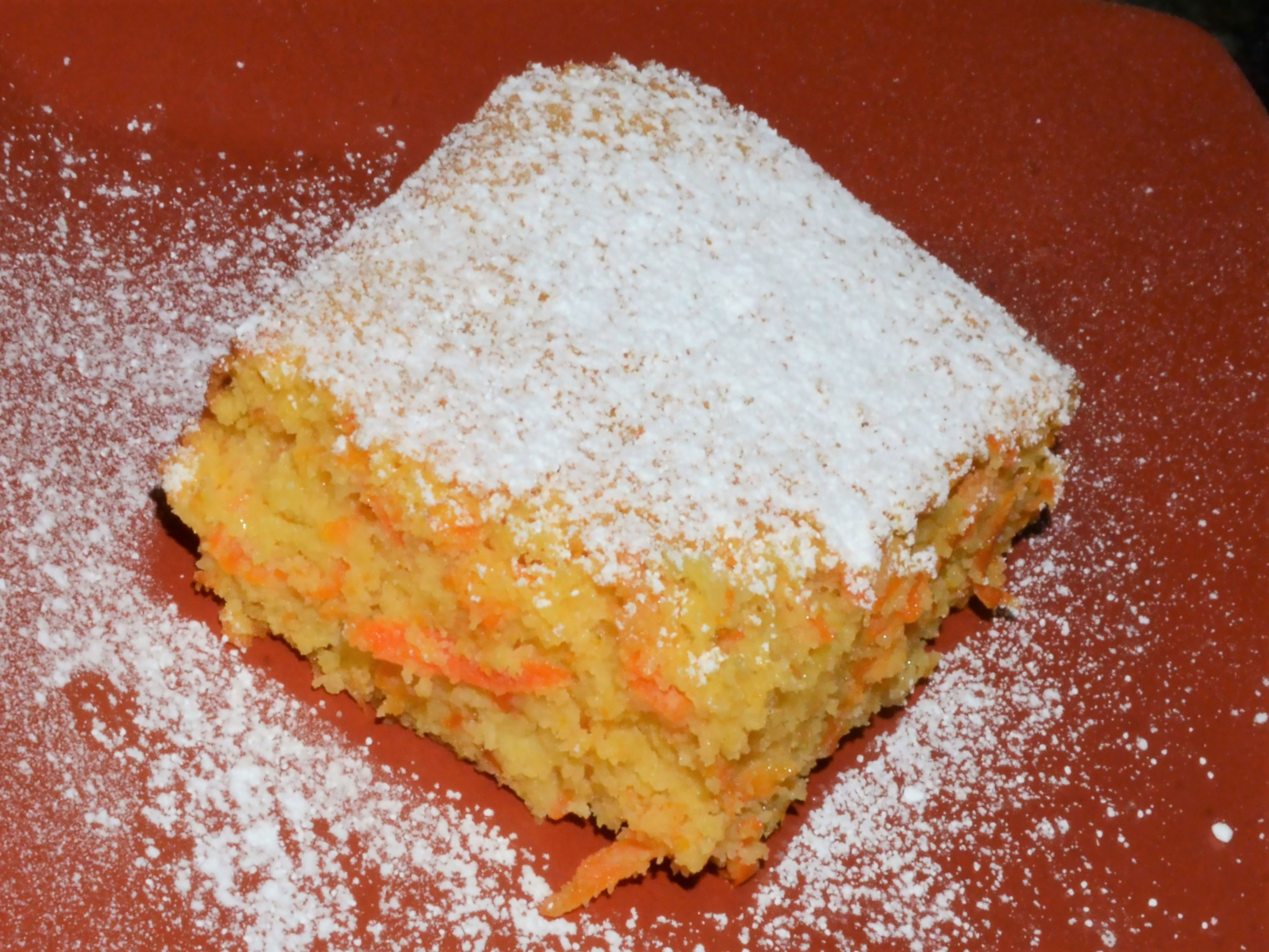 Low calorie carrot torte